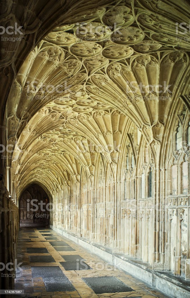 Gloucester Cathedral Cloister stock photo