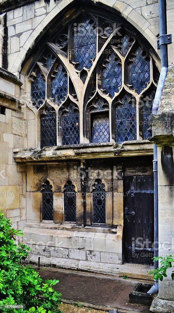 Gloucester Cathedral corridor exterior stock photo