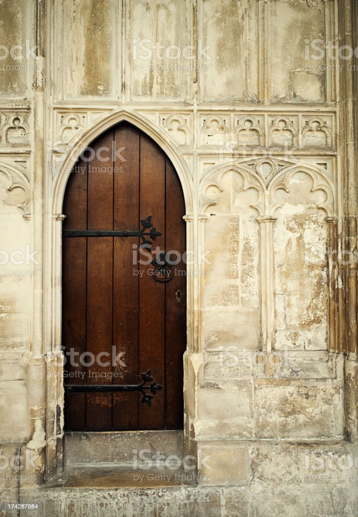 Gloucester Cathedral Door stock photo