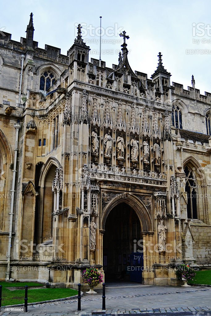 Gloucester Cathedral Entrance stock photo