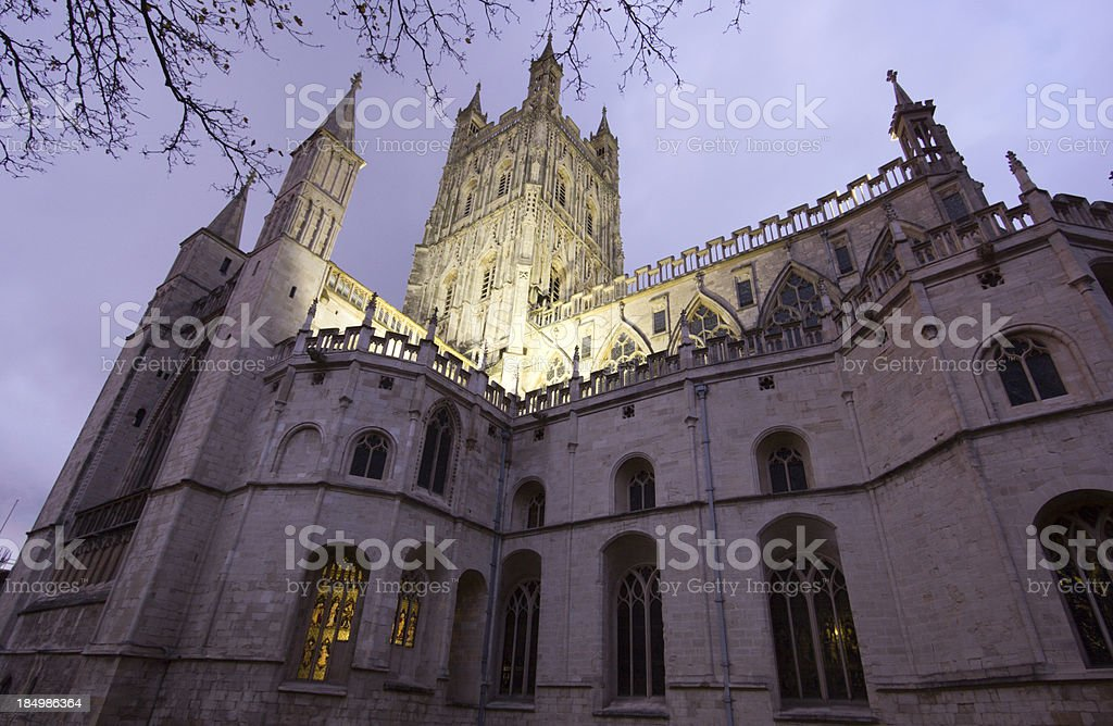 Gloucester Cathedral in Gloucestershire, England royalty-free stock photo