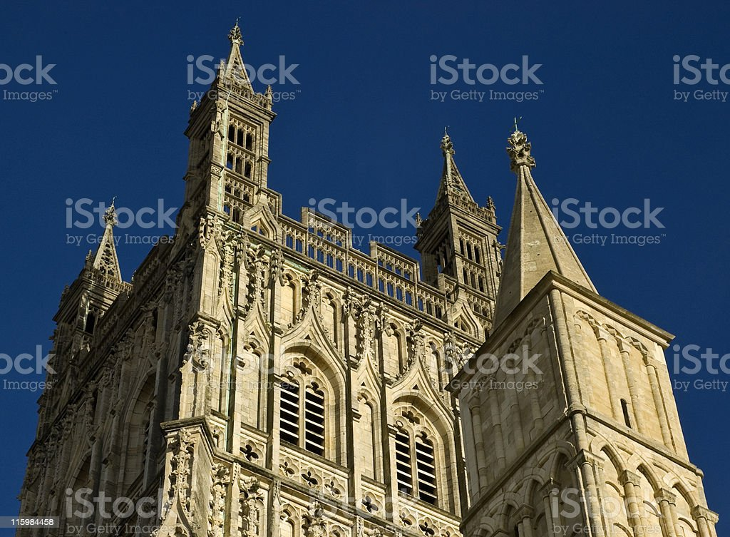 Gloucester Cathedral. stock photo
