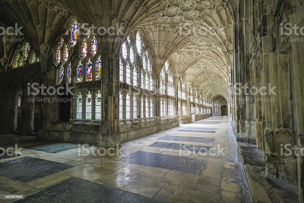 Gloucester Cathedral stock photo