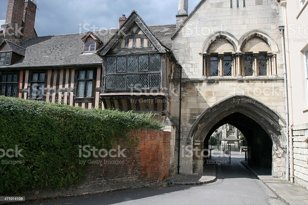 Gloucester Cathedral Square Entrance stock photo