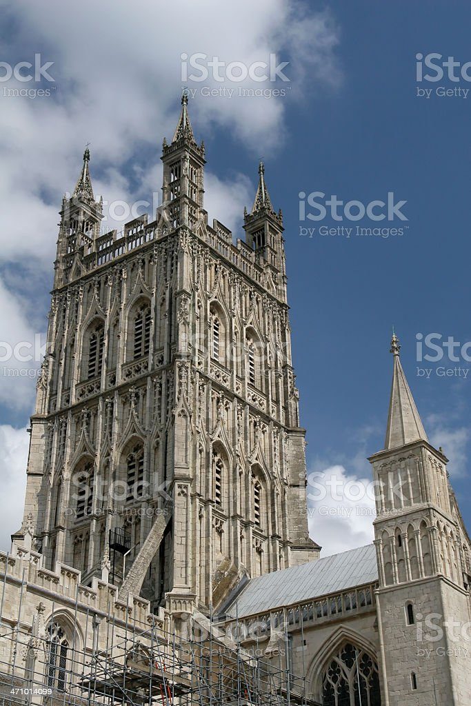 Gloucester Cathedral Tower stock photo