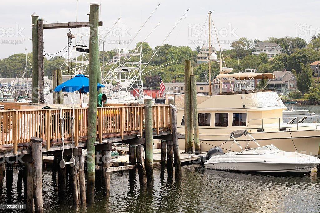 Gloucester Harbor Scene stock photo