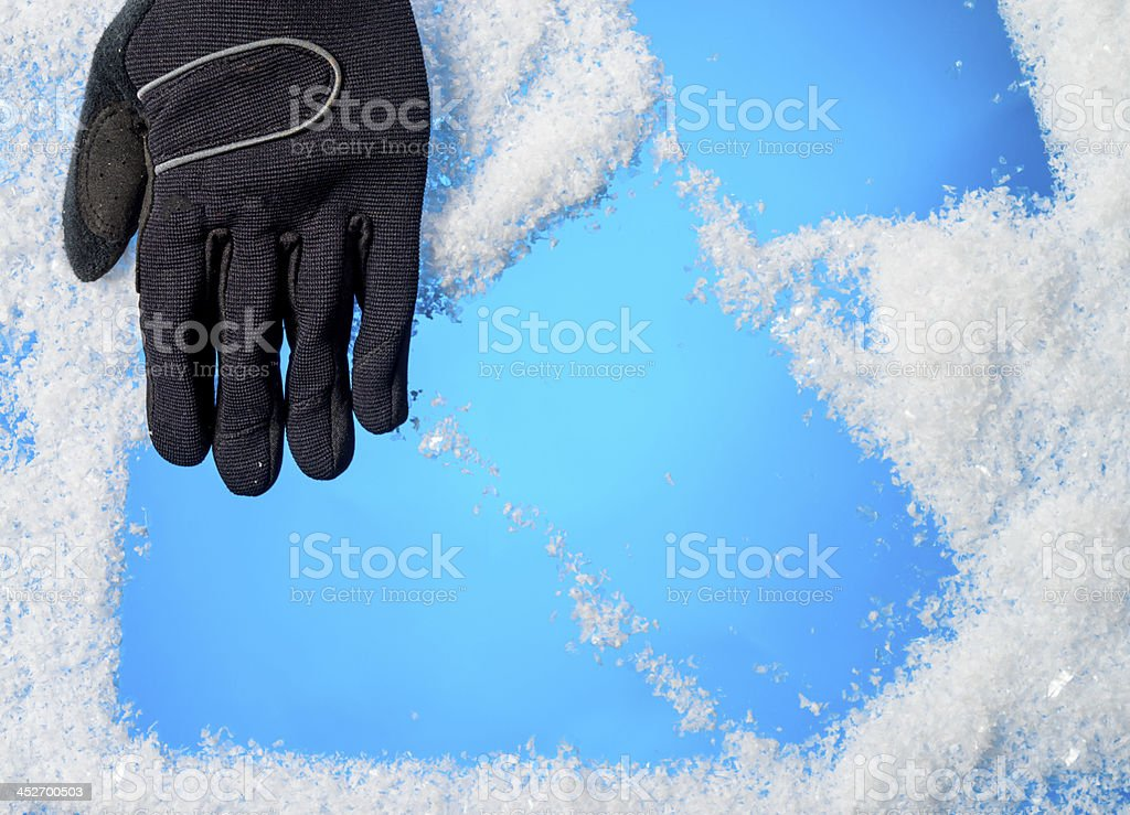 glove and snowflakes royalty-free stock photo