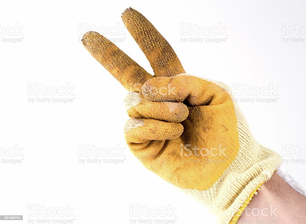 gloved hand 4 royalty-free stock photo