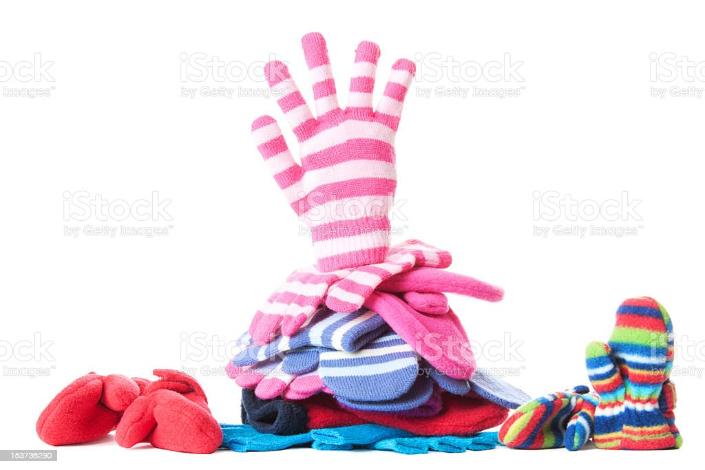 Gloves and mittens with hand symbol | Isolated royalty-free stock photo