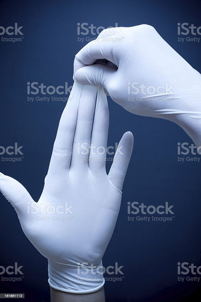 Gloves off stock photo