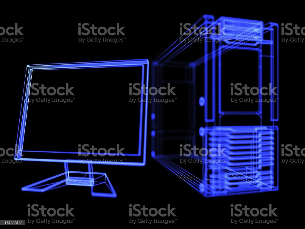 glow computer royalty-free stock photo