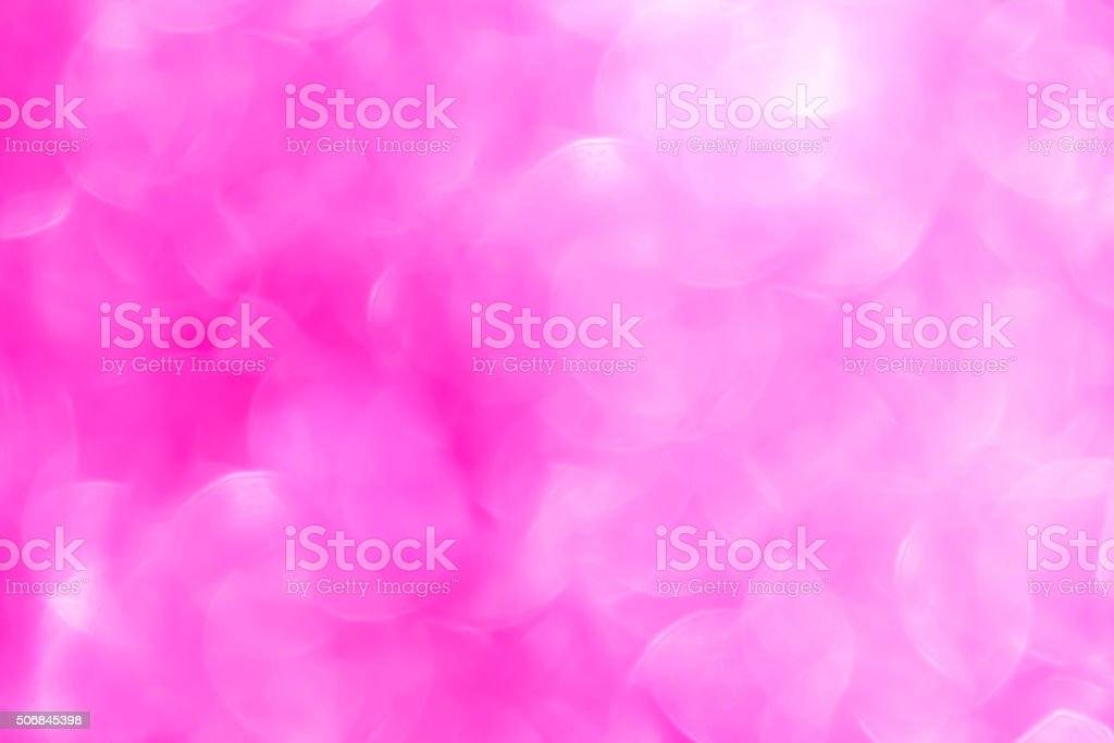 Glow light blow pink bokeh for romantic mood valentine backgroun stock photo