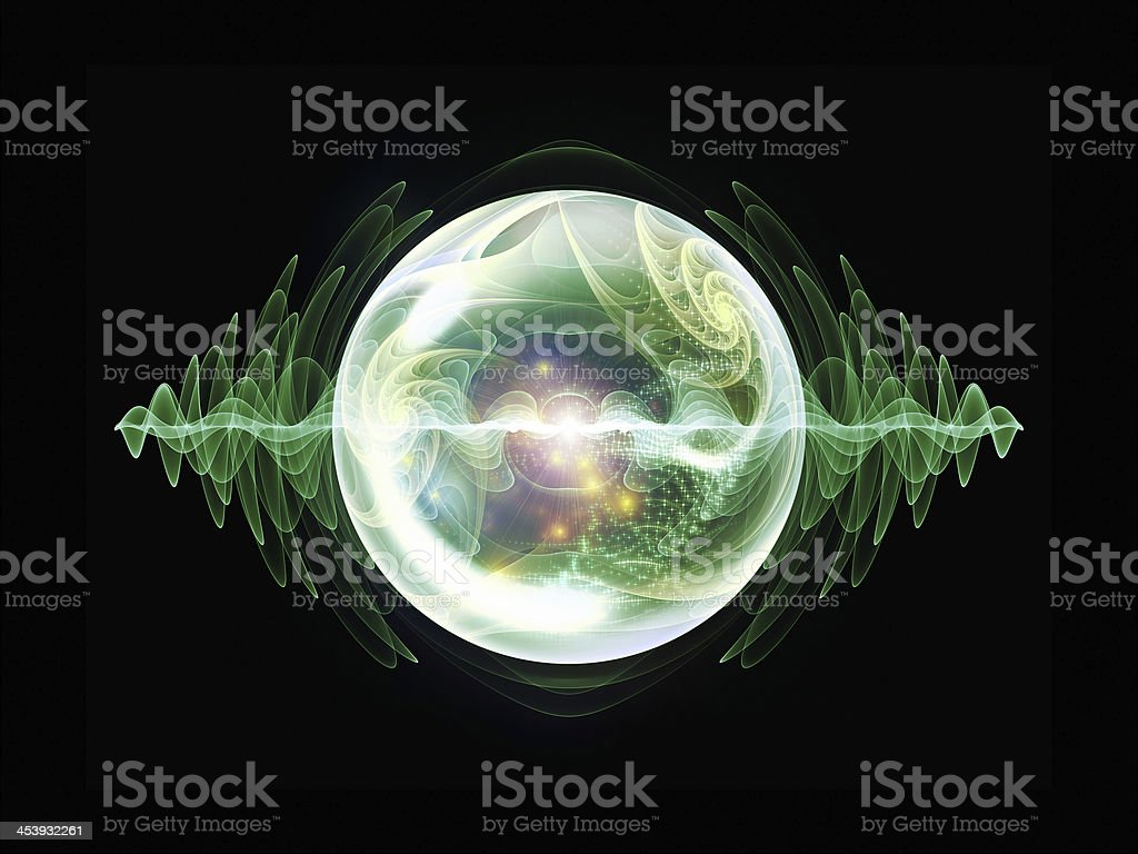Glow of Wave Particle royalty-free stock photo