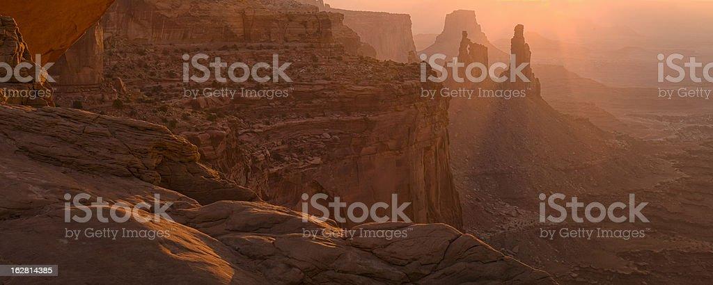 Glow Through Mesa Arch stock photo