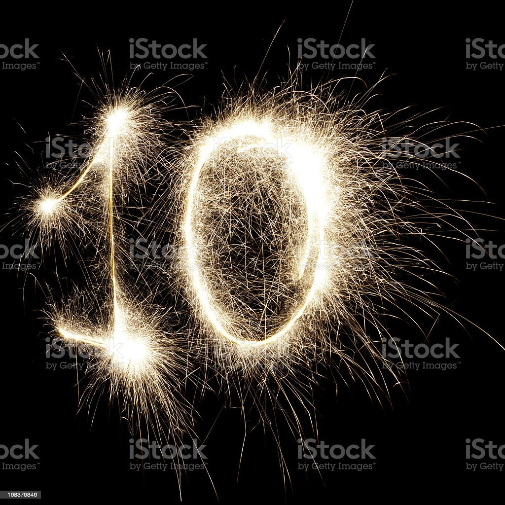 Glowing 10 royalty-free stock photo