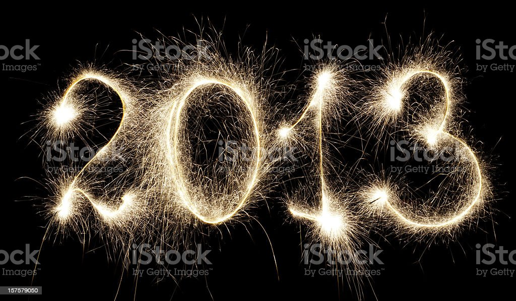 Glowing 2013 royalty-free stock photo