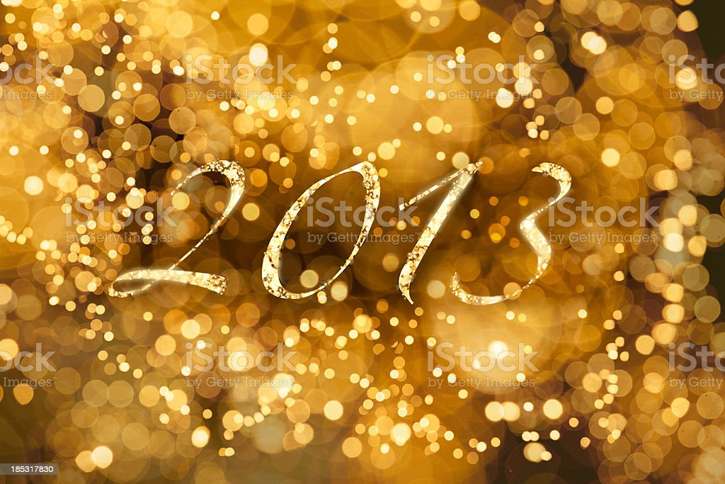 Glowing 2013 stock photo