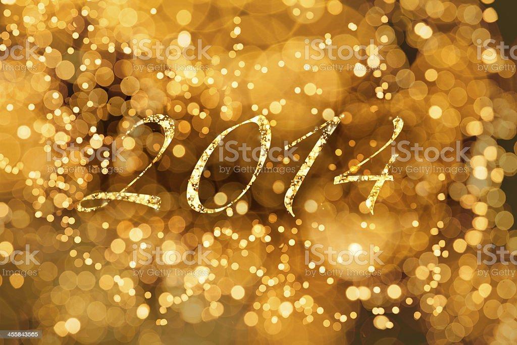 Glowing 2014 royalty-free stock photo