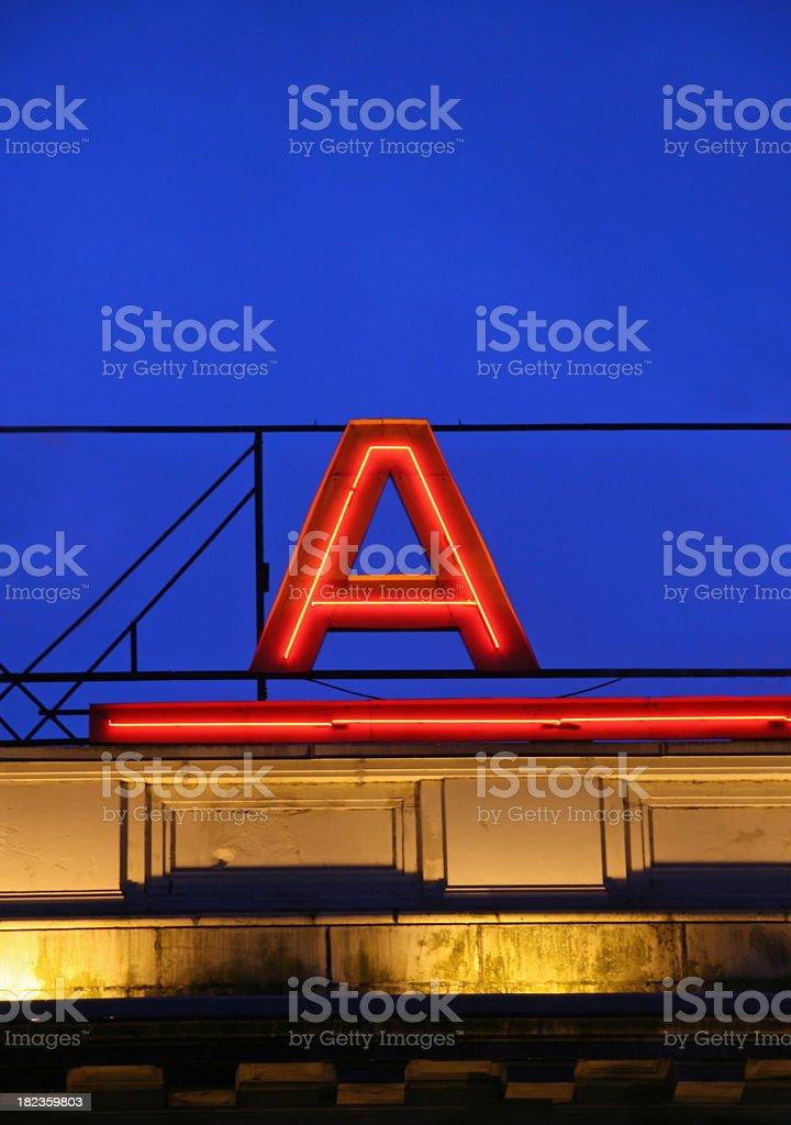 Glowing A stock photo
