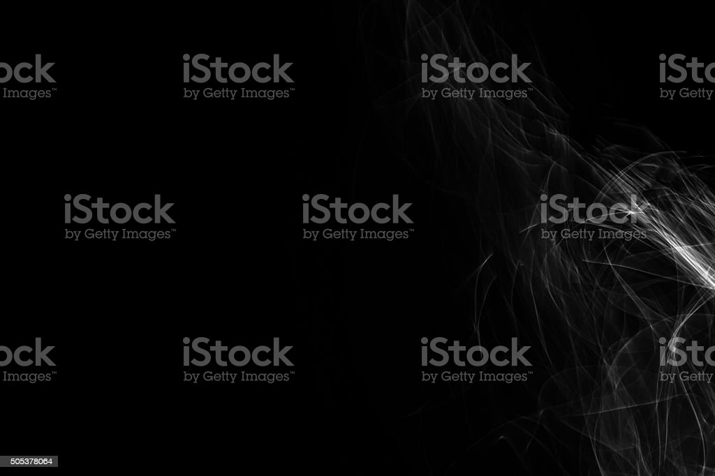 Light painted glowing abstract black and white curved lines on a...
