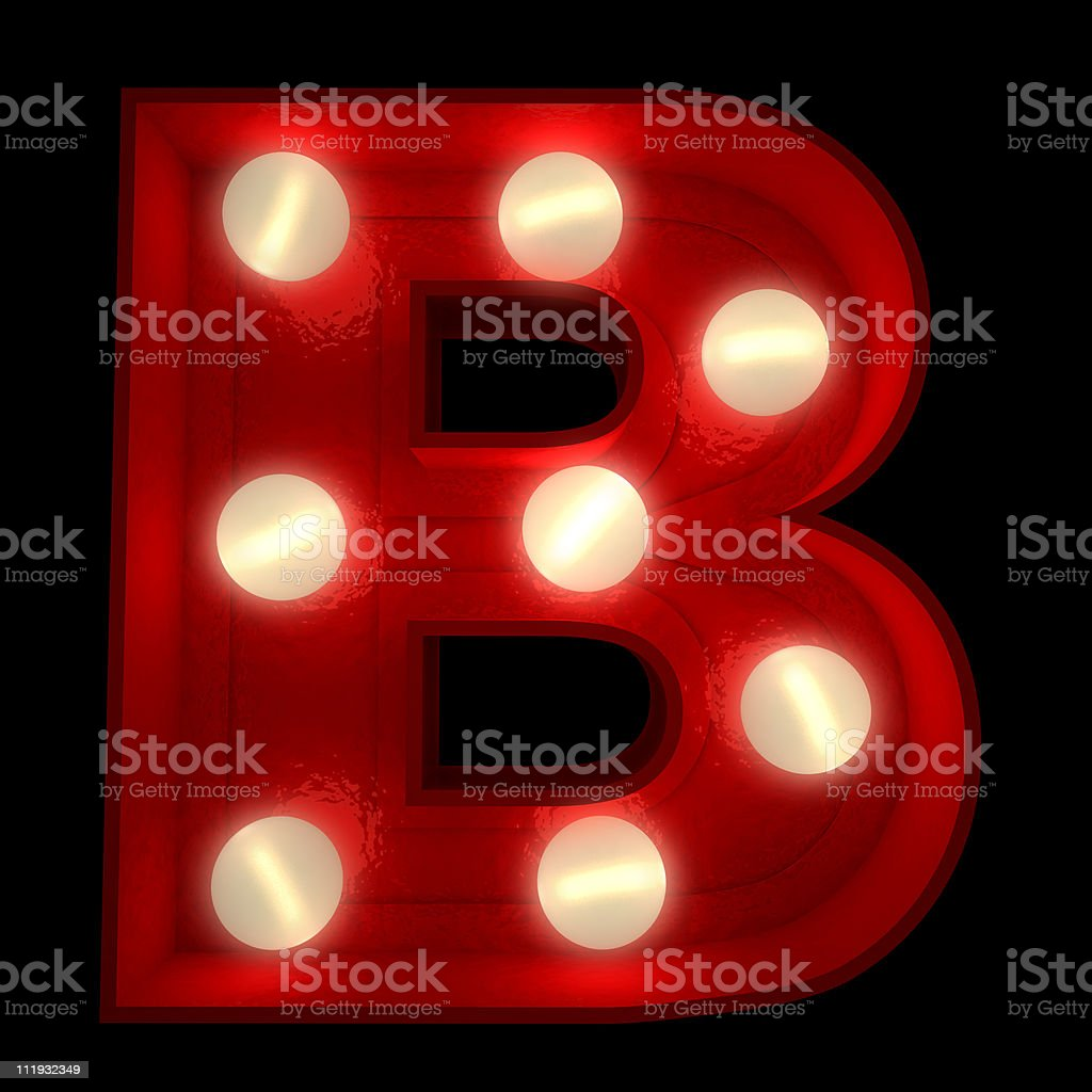 Glowing B stock photo