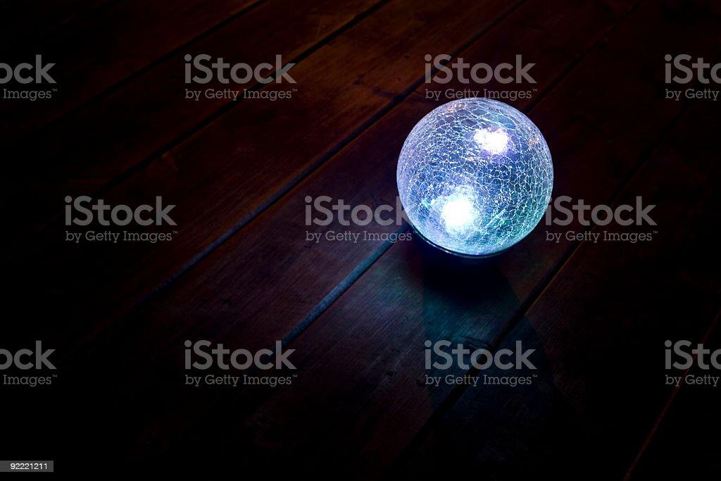 Glowing ball of energy stock photo