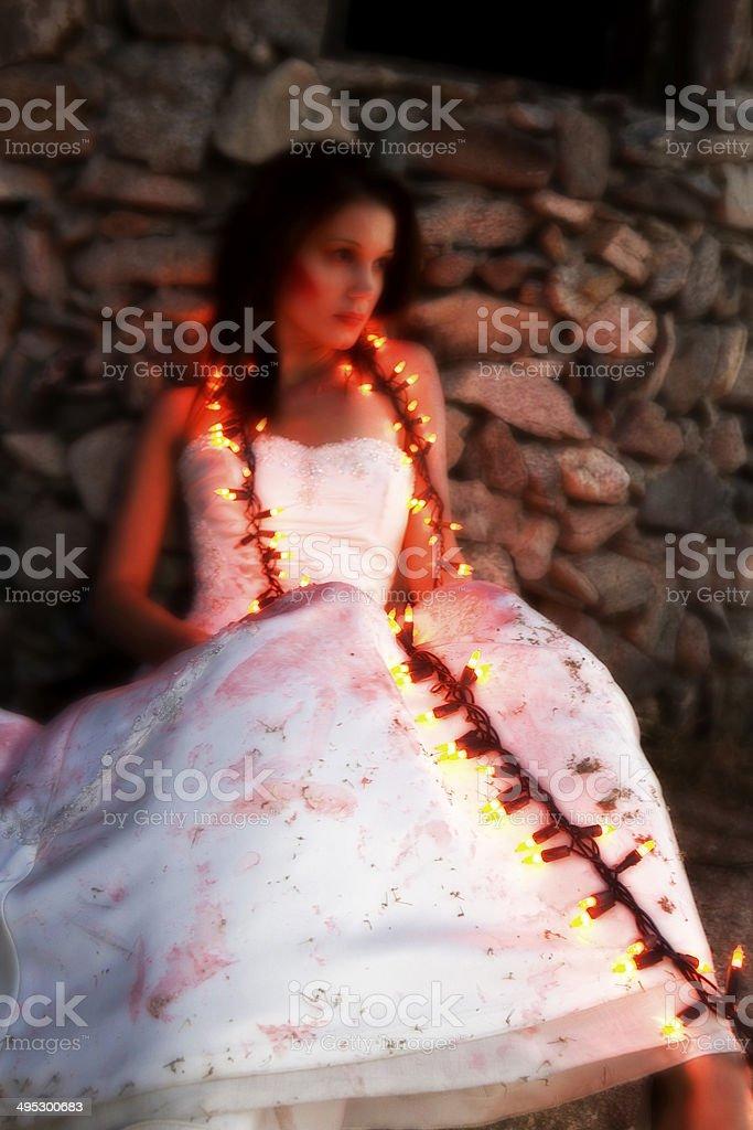 Glowing Bride stock photo