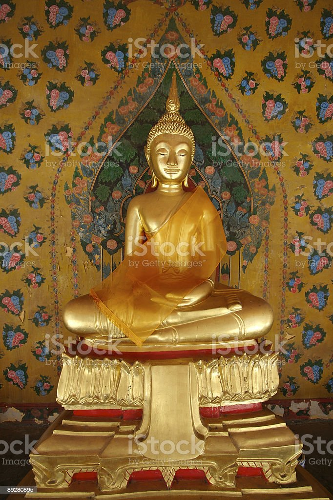 Glowing Buddha stock photo