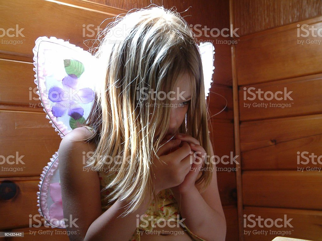 Glowing butterfly stock photo