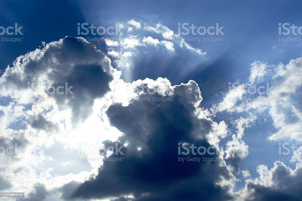Glowing Cloud royalty-free stock photo