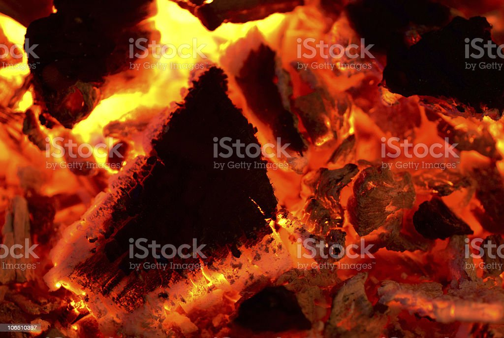 Glowing coal royalty-free stock photo