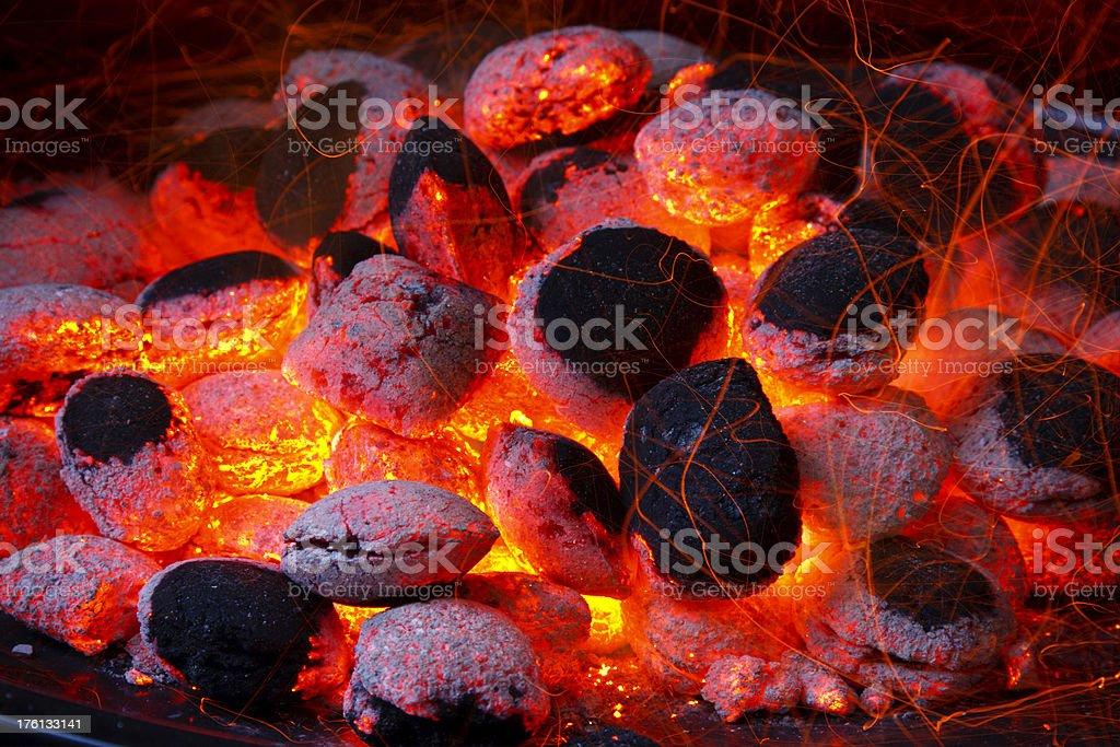 Glowing Coal royalty-free stock photo