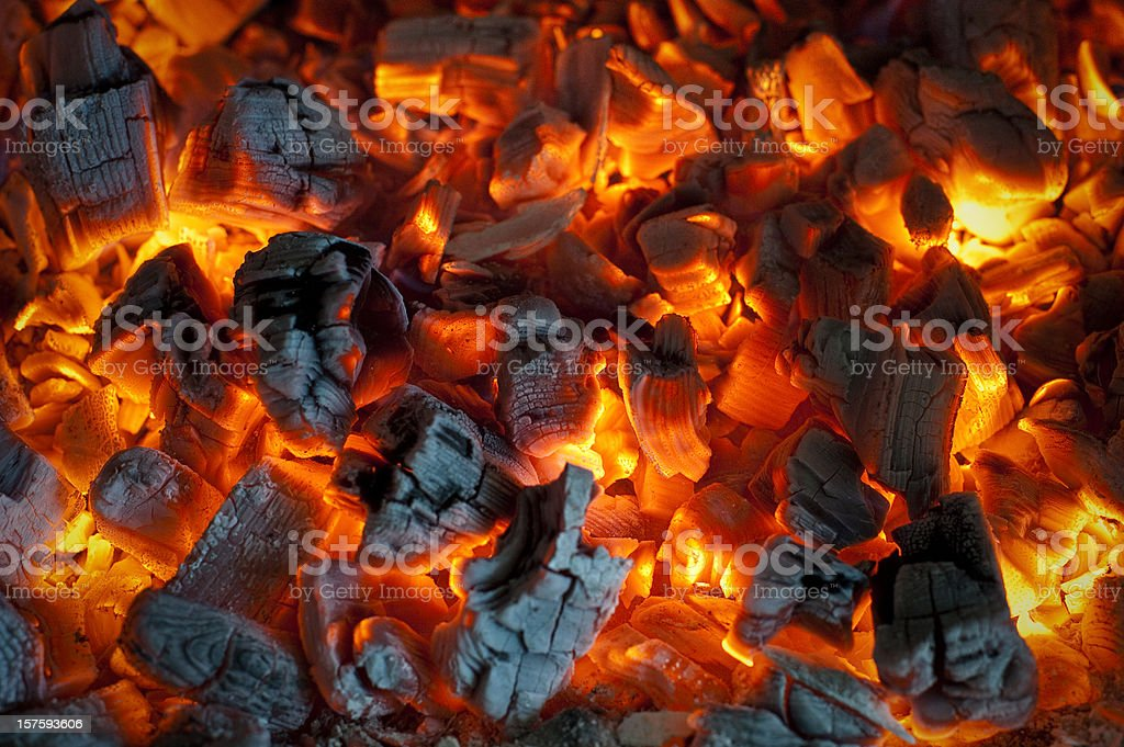 Glowing Coals stock photo