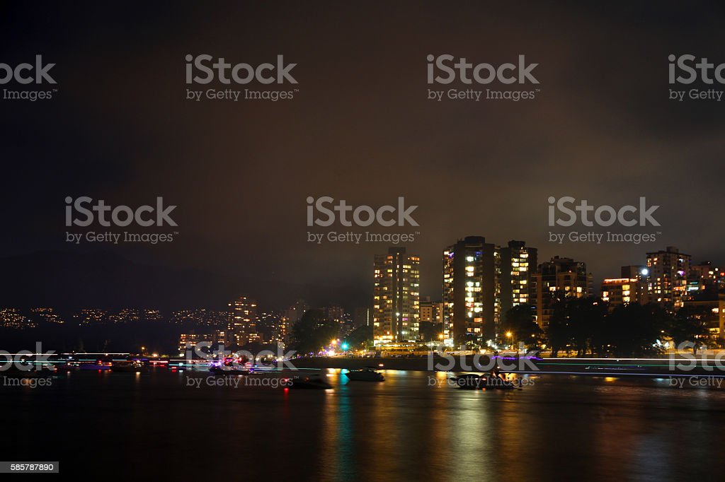 Glowing Coast stock photo