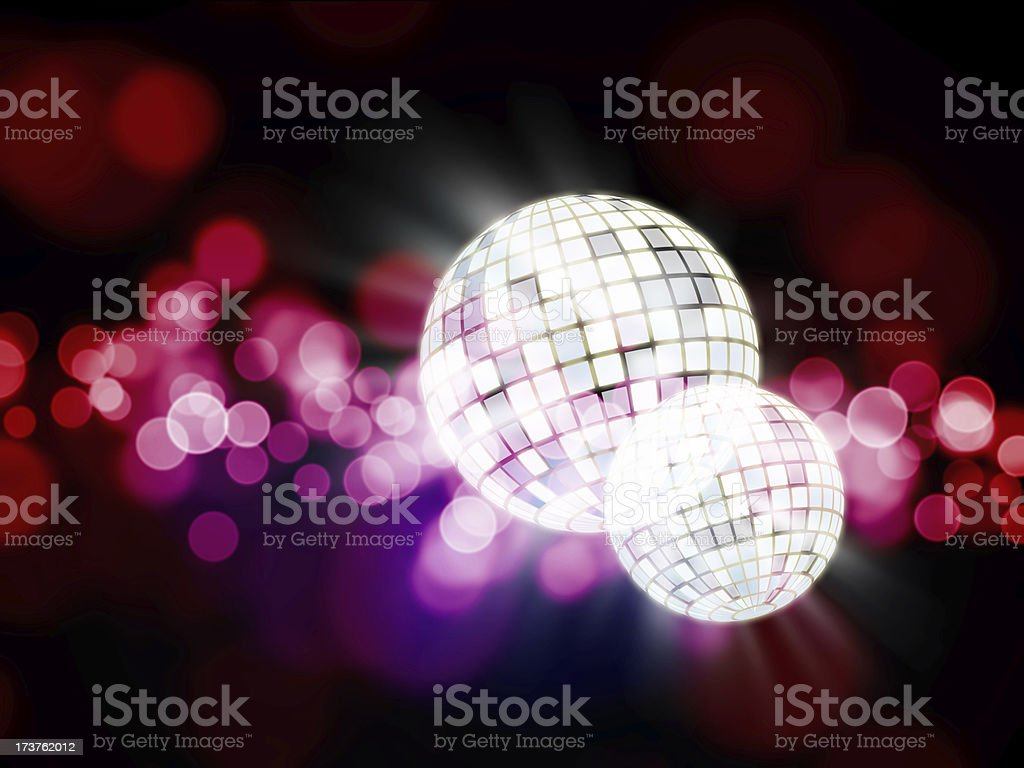 Glowing discoballs royalty-free stock photo
