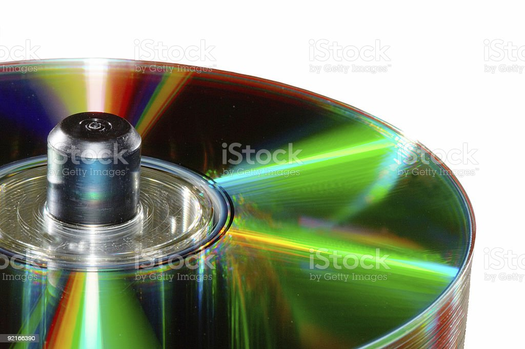 glowing discs stock photo