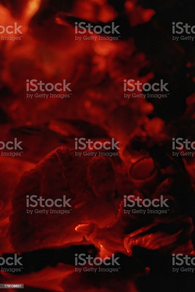 glowing embers royalty-free stock photo