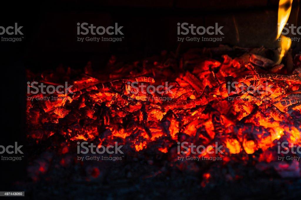 Glowing embers stock photo