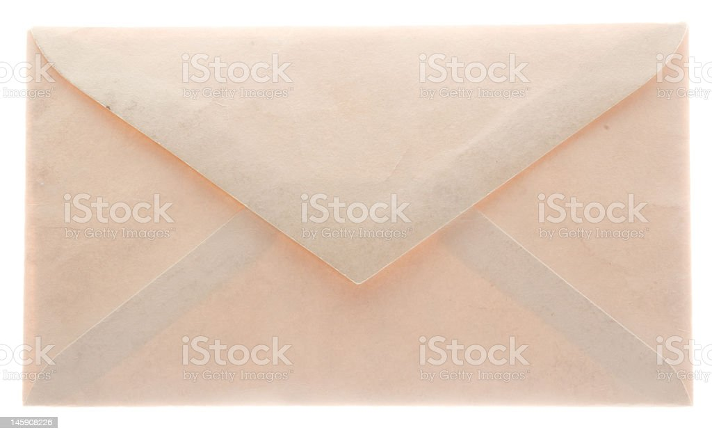 Glowing envelope from the back stock photo