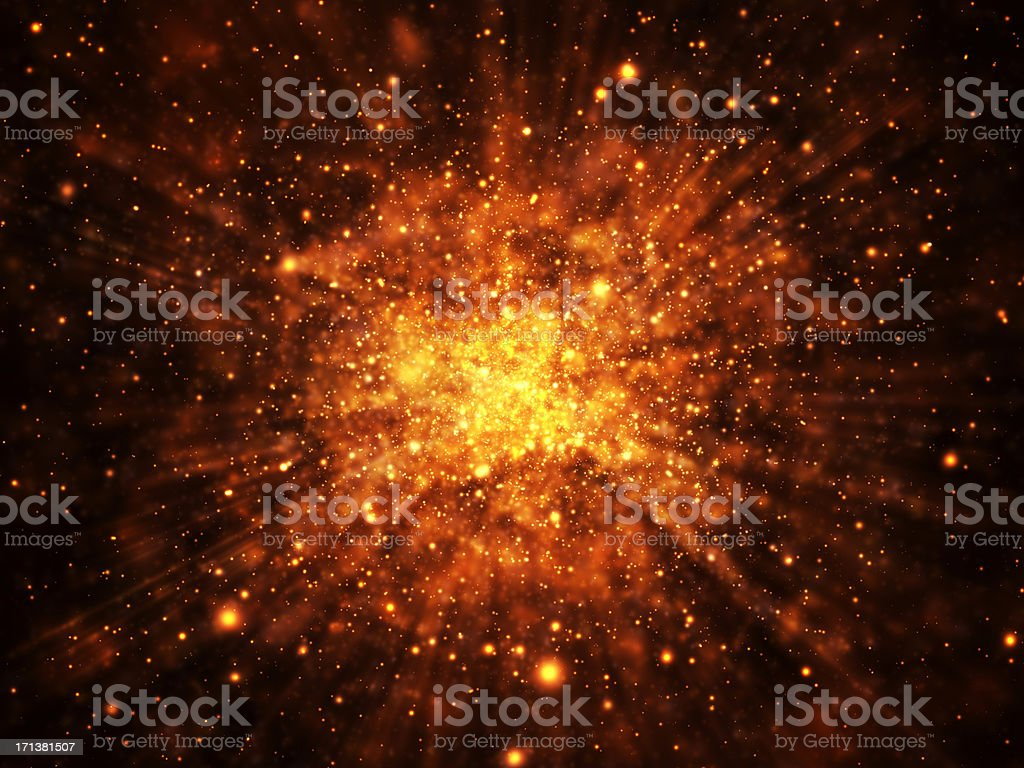 Glowing Explosion Background stock photo