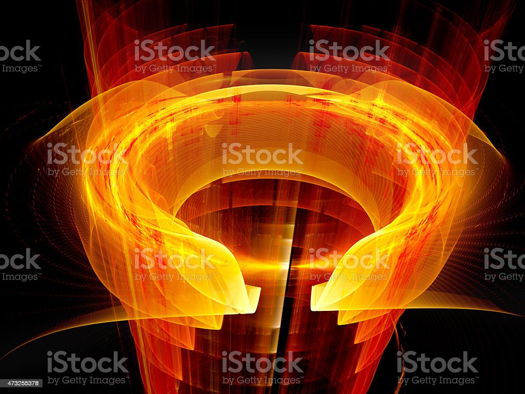 Glowing fiery plasma fields stock photo