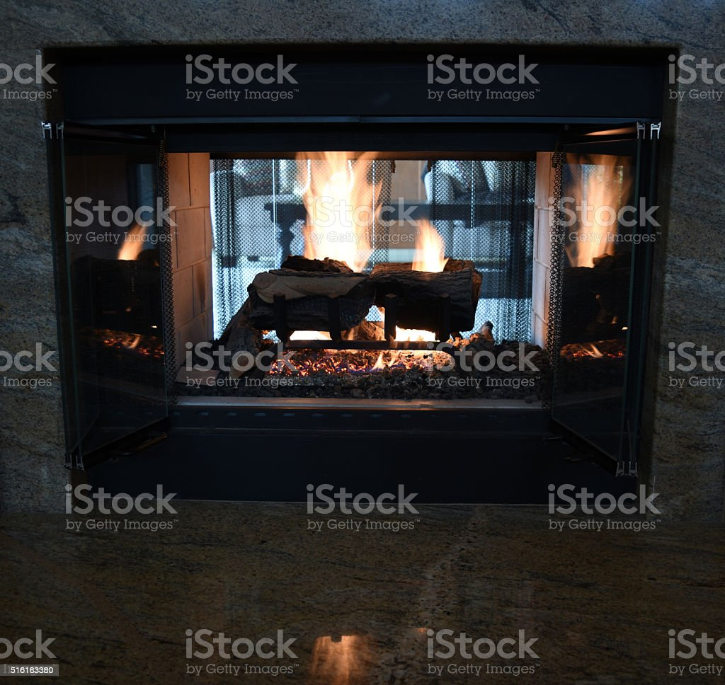 Glowing Fire stock photo