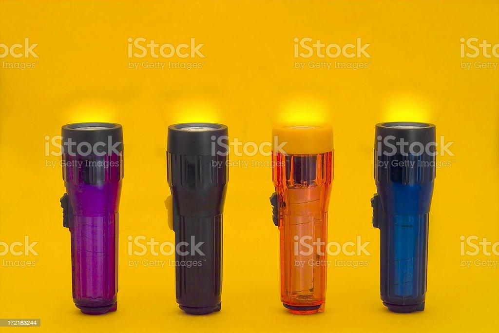 Glowing Flashlights royalty-free stock photo