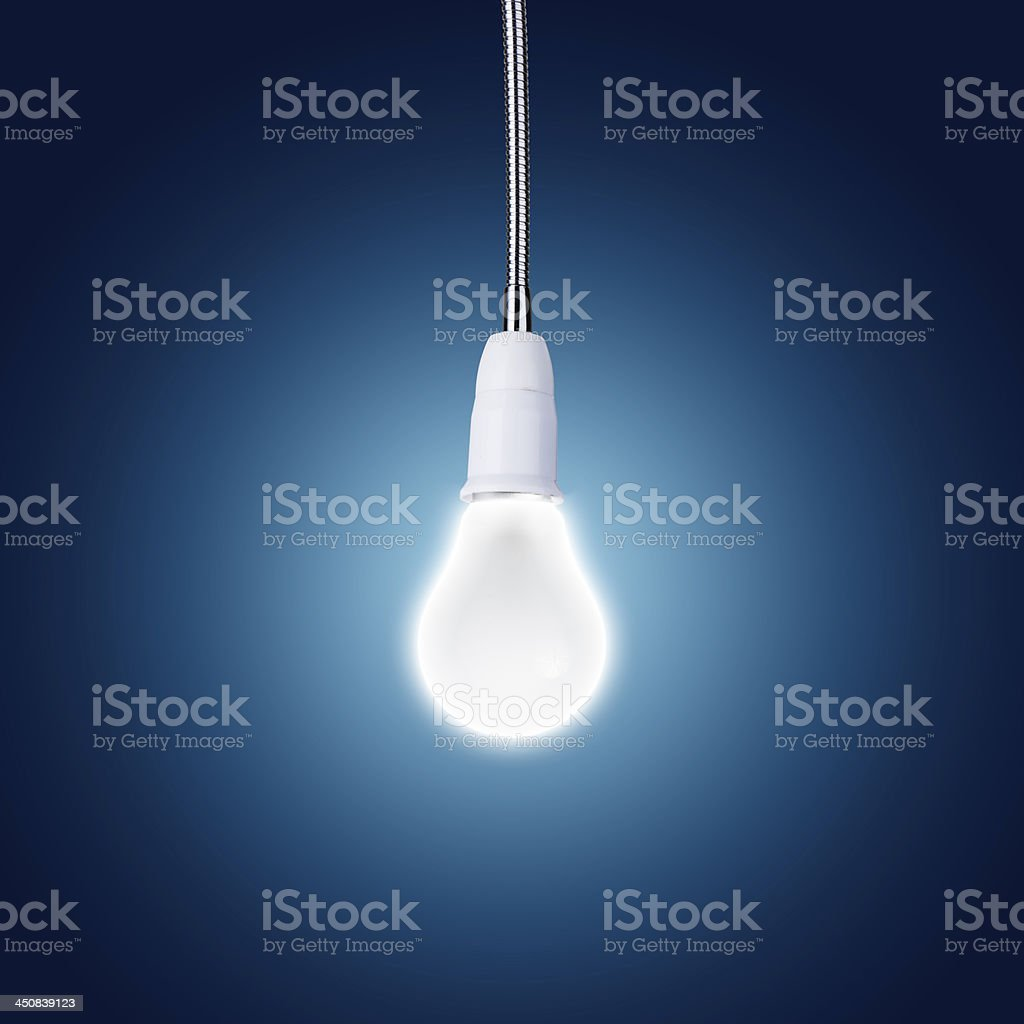 Glowing Fluorescent Light bulb royalty-free stock photo