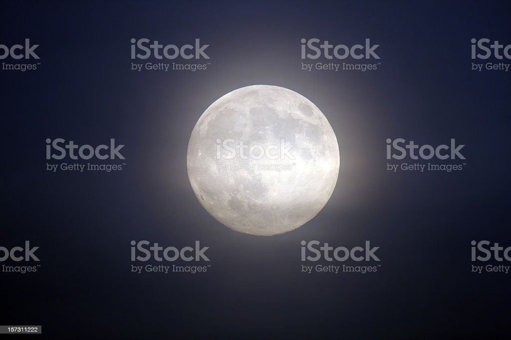 Glowing full moon royalty-free stock photo
