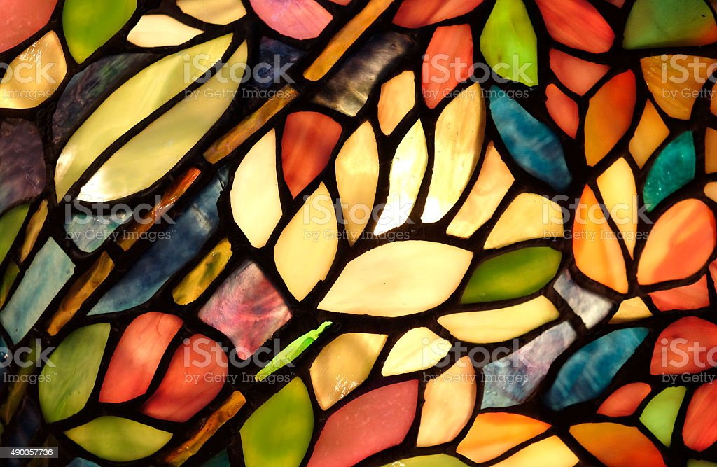 Glowing Glass Art Pattern stock photo