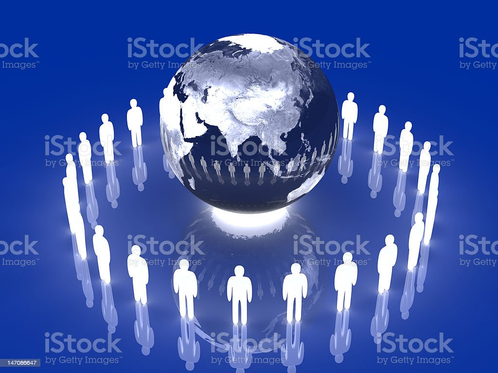 Glowing Global Team - Asia royalty-free stock photo