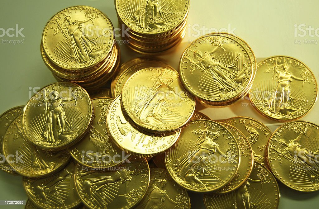 Glowing Gold royalty-free stock photo