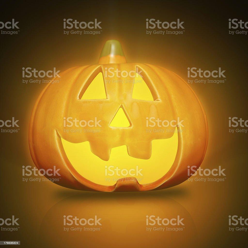 Glowing halloween Pumpkin royalty-free stock photo
