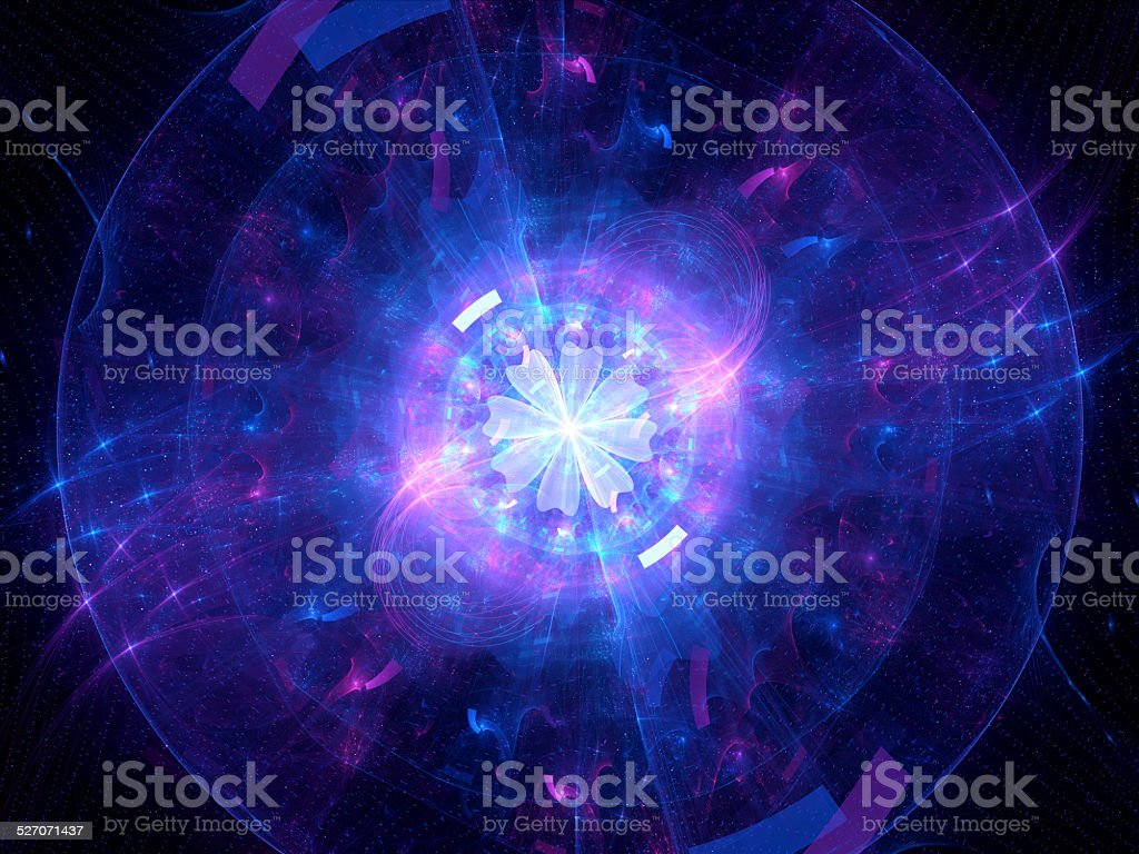 Glowing Higgs boson stock photo